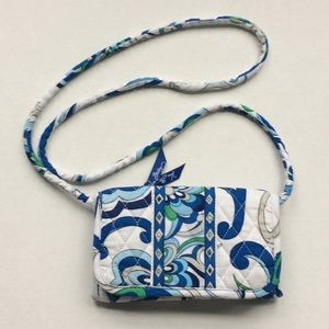Vera Bradley crossbody fabric wallet. Lovely cond.